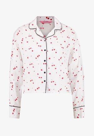 JACKET WOVEN PIPING CHERRY - Koszulka do spania - off white