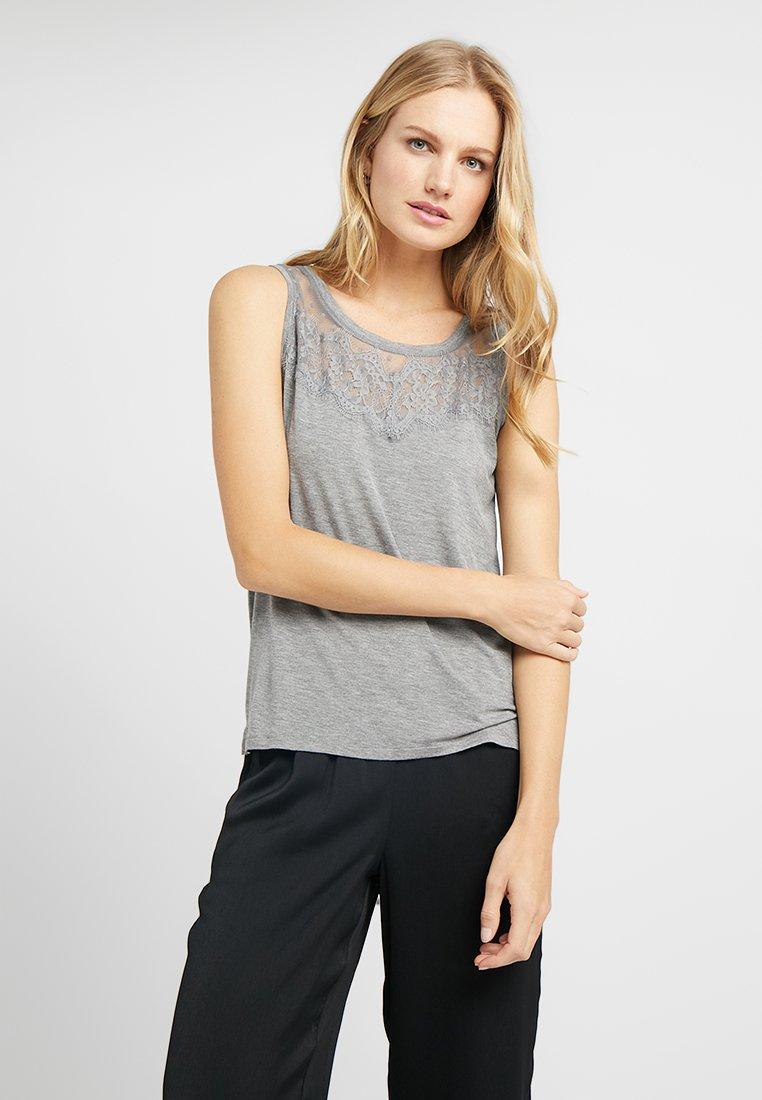 Hunkemöller - SINGLET DOT - Nachtwäsche Shirt - mid grey