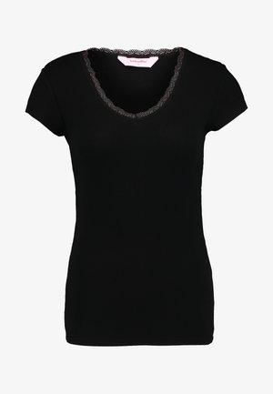 V NECK - Koszulka do spania - black