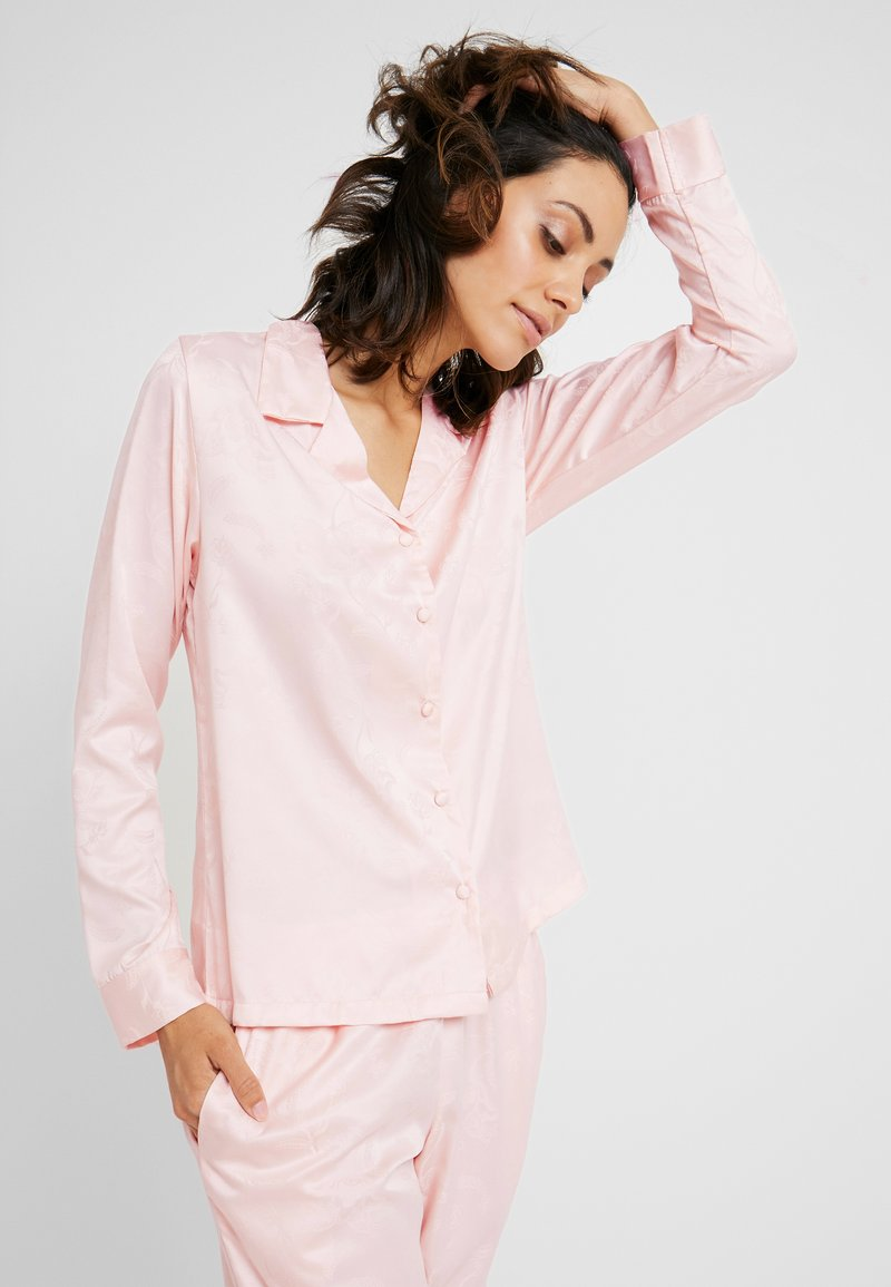 Hunkemöller - JACKET PAISLEY - Pyjama top - cloud pink