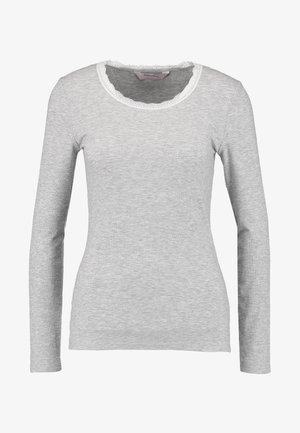 Pyjamasöverdel - warm grey melange