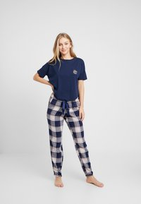 Hunkemöller - LOOSEFIT MOONCHILD - Pyjamasoverdel - peacot - 1