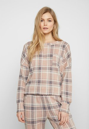 BRUSHED CHECK - Pyjamasoverdel - rose smoke