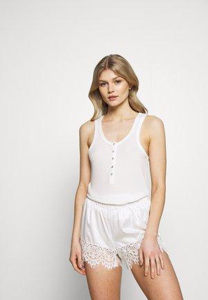 SINGLET HENLEY - Pyjamashirt - snow white