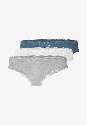 BRASALIAN 3 PACK - Slip - grey melee