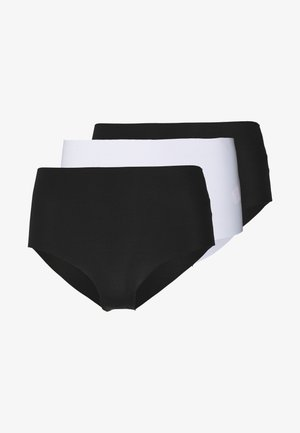 INVISIBLE HIGH WAIST BRASALIAN 3 PACK - Slip - black/white