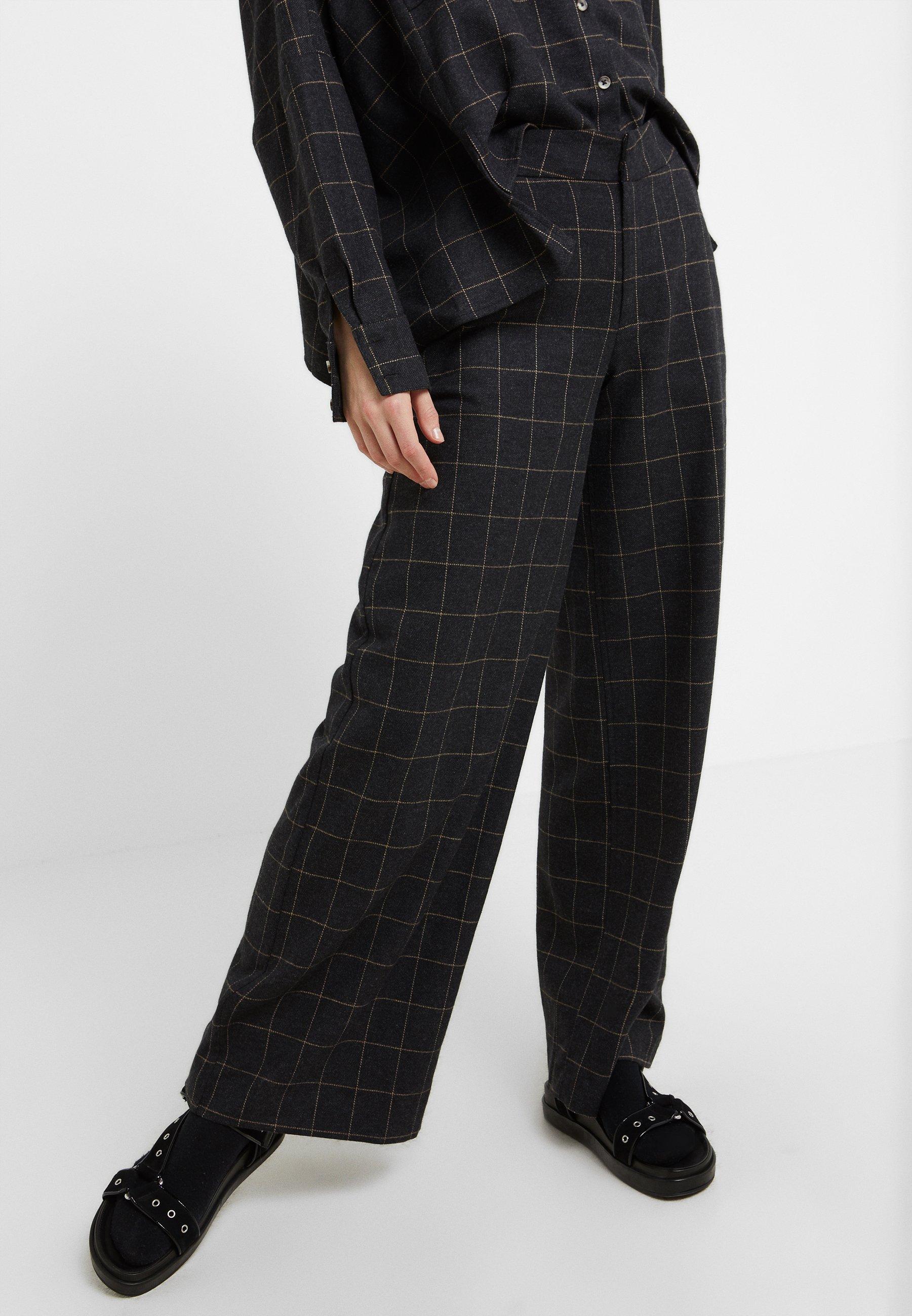 Holzweiler RYLLIK MIX - Pantalones - dark grey entrega gratis La mejor decision