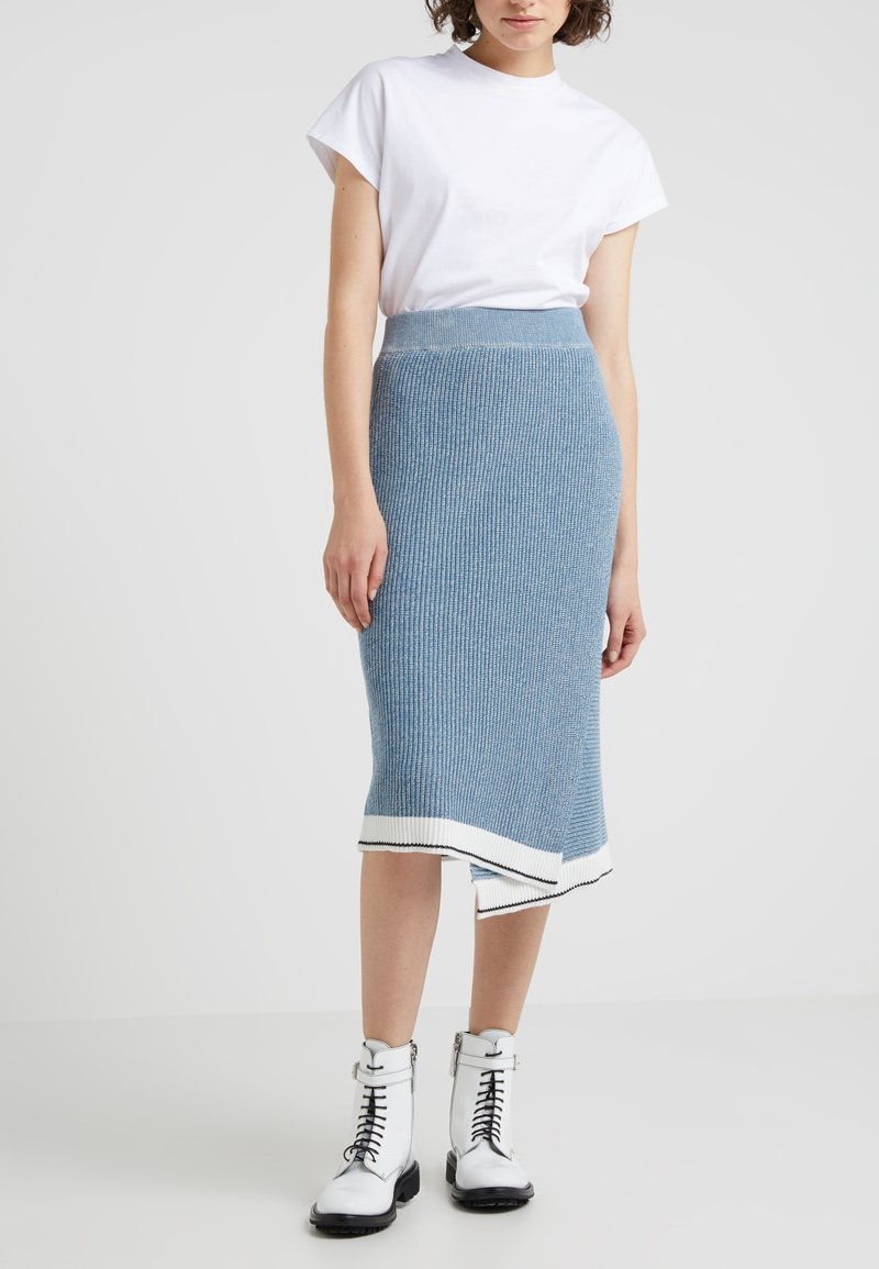 Holzweiler - VILLA SKIRT - Gonna a tubino - blue