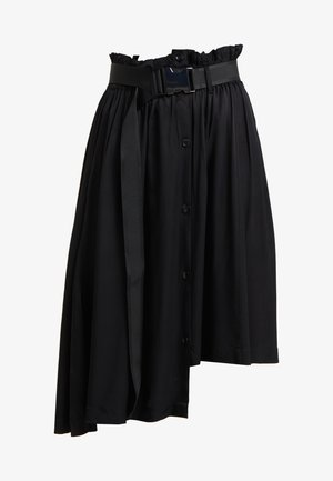 SELJORD SKIRT - Spódnica trapezowa - black washed