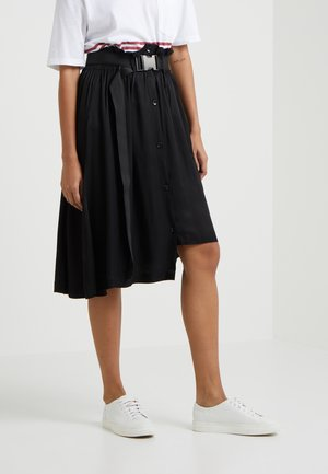 SELJORD SKIRT - Áčková sukně - black washed