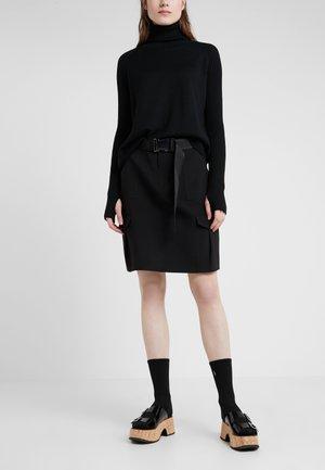 STRANDA SKIRT - Áčková sukně - black