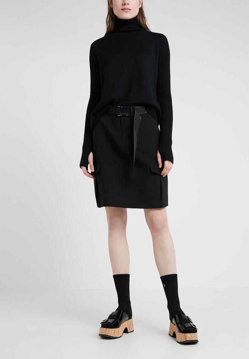 Holzweiler - STRANDA SKIRT - A-line skirt - black