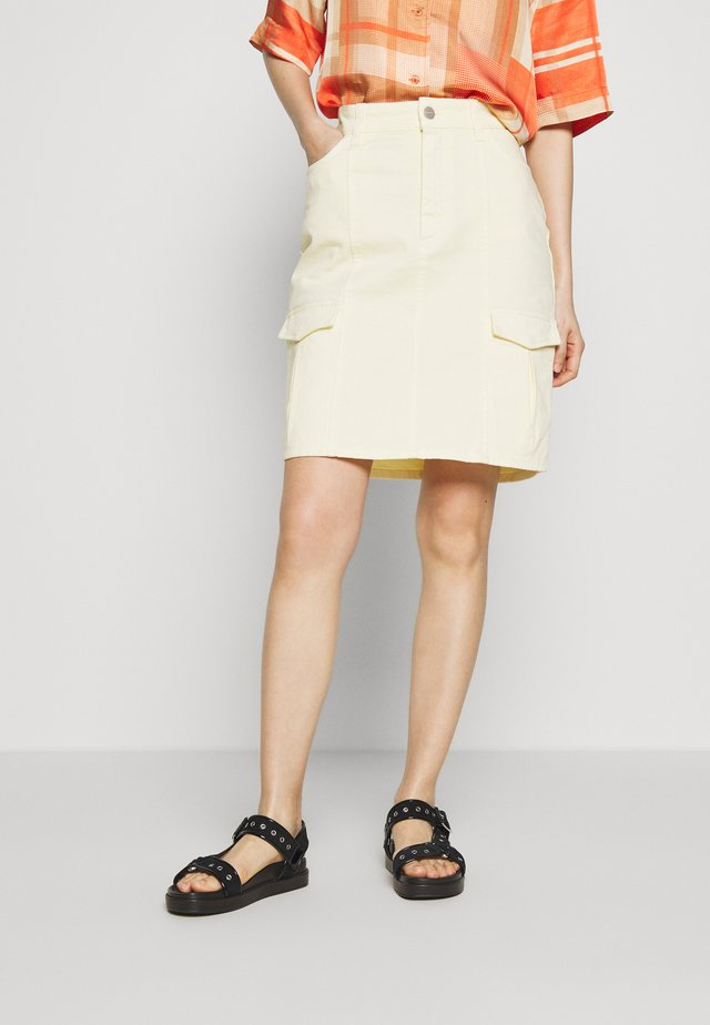 MAYA SKIRT  - Minigonna - light yellow