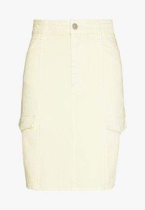 MAYA SKIRT  - Mini skirt - light yellow