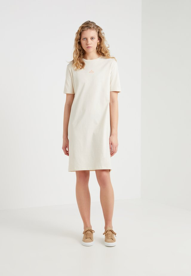 SWAN DRESS - Jerseykjoler - ecru
