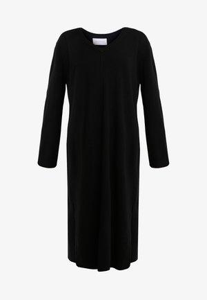 RABBIT - Gebreide jurk - black