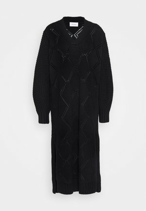 FOSSVEIEN DRESS - Abito in maglia - black