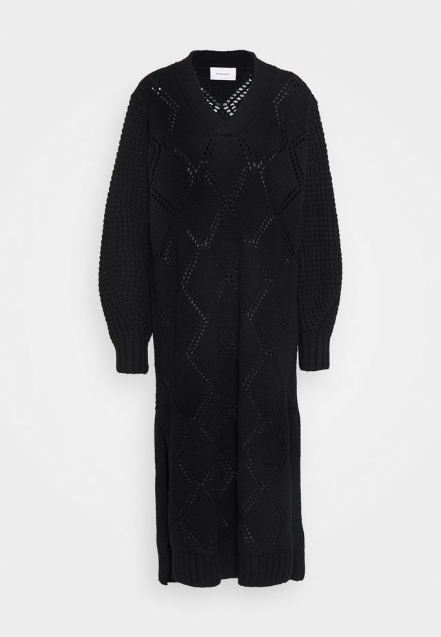 FOSSVEIEN DRESS - Neulemekko - black