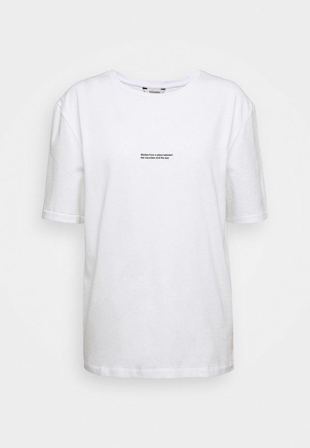 BAND TEE - T-shirt print - white