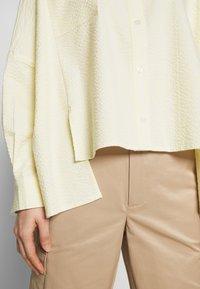 Holzweiler - SON - Button-down blouse - light yellow - 3