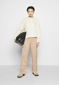 Holzweiler - SON - Button-down blouse - light yellow - 1