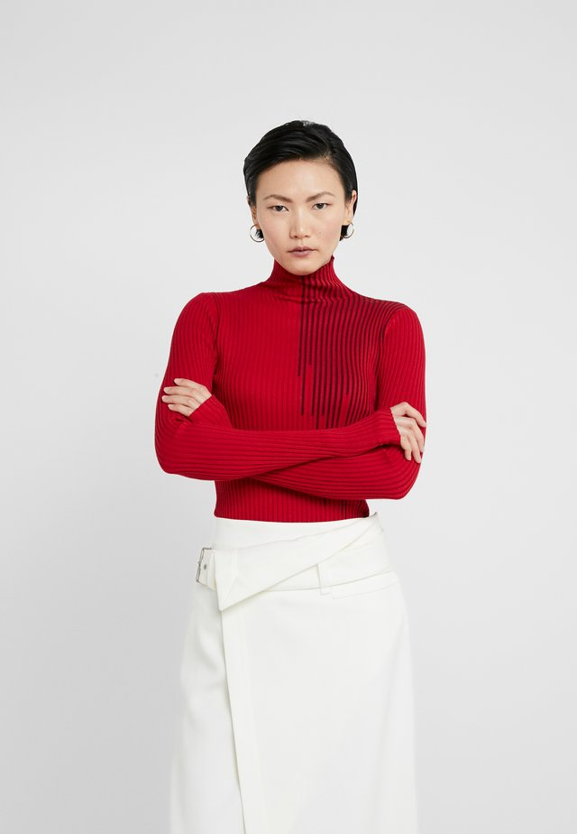EBBA - Strickpullover - red mix