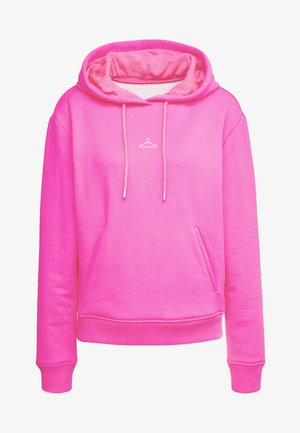 HANG ON  - Jersey con capucha - neon pink