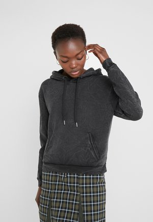 HANG ON SWEAT  - Sweat à capuche - black washed
