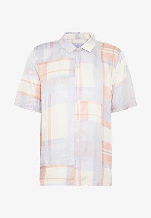 BO SHIRT - Shirt - light blue/yellow