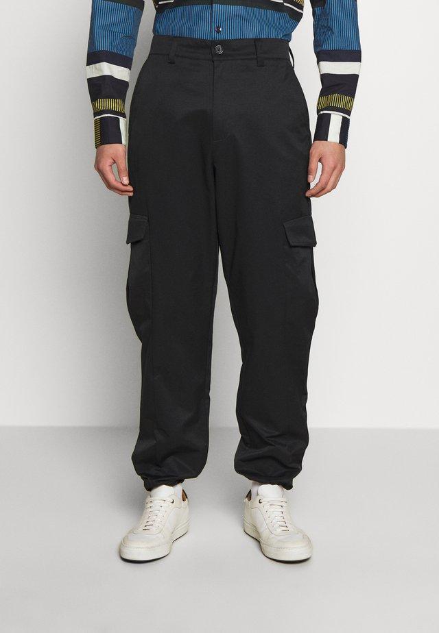 PIMP TROUSER - Cargo trousers - black