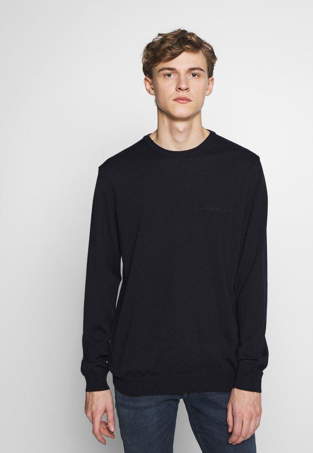 CENTRAL - Stickad tröja - navy