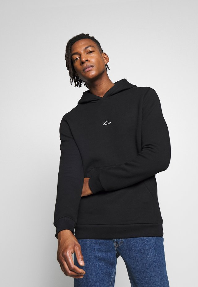 HANGER HOODIE  - Hoodie - washed black/white