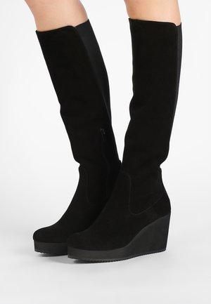 MICRO - Stivali con i tacchi - crosta