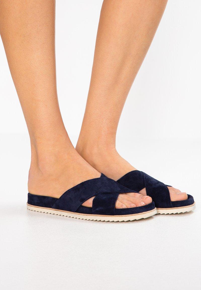 Homers - BIO - Pantolette flach - navy