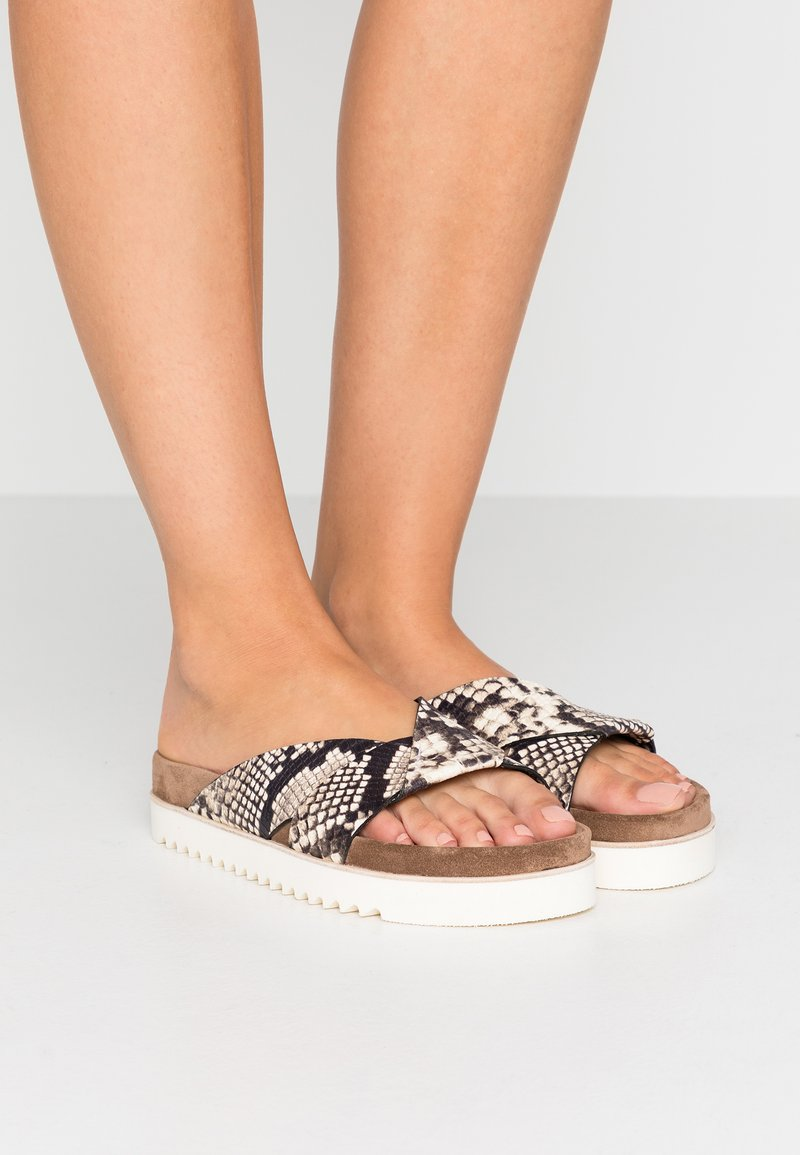 Homers - Pantolette flach - natural