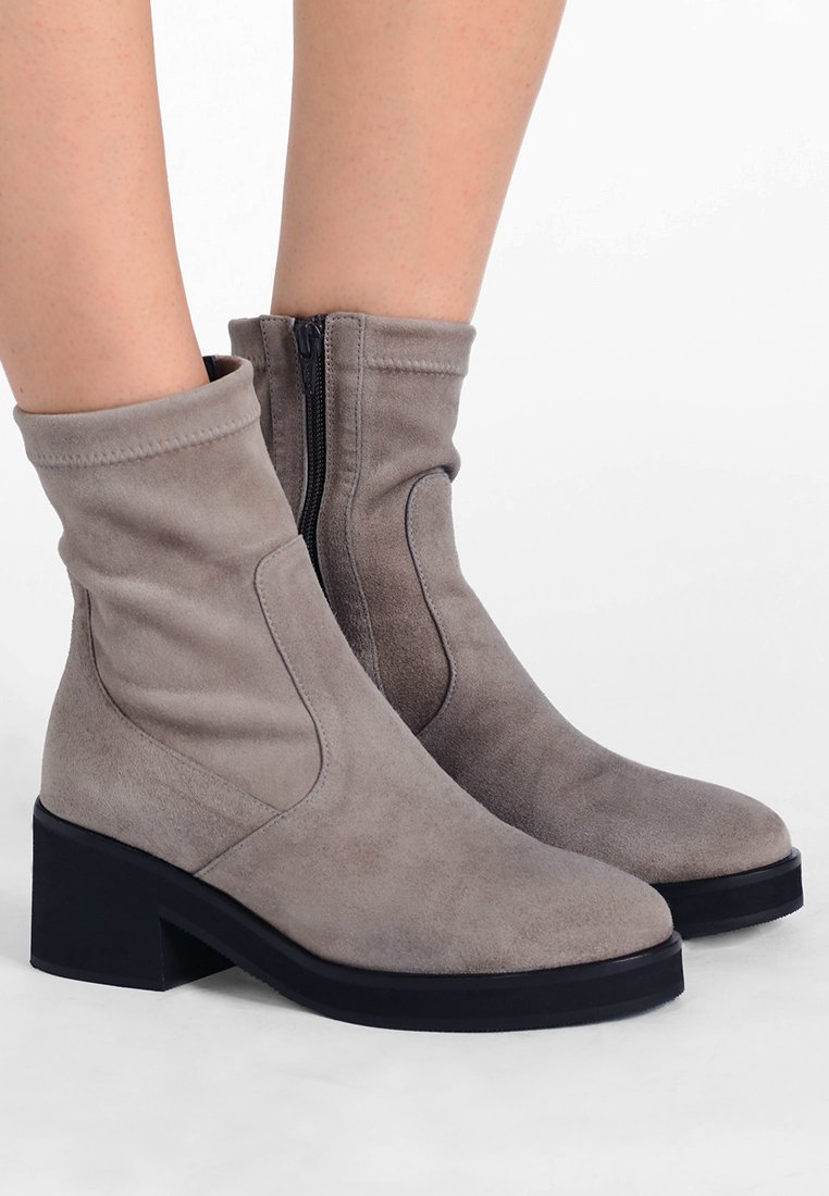 Homers - BLONDI - Platform ankle boots - ante taupe