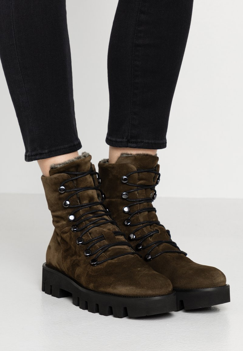Homers - SIENA - Platform ankle boots - militare
