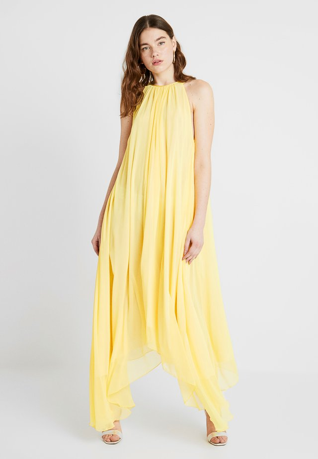 SPLIT AT THE SEAMS DRESS - Maxi dress - lemon