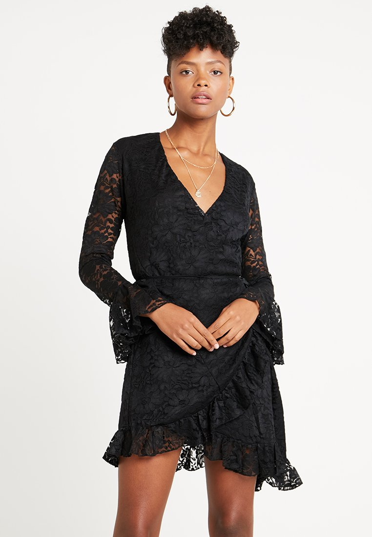 We are HAH - WRAP STAR DRESS - Day dress - noir