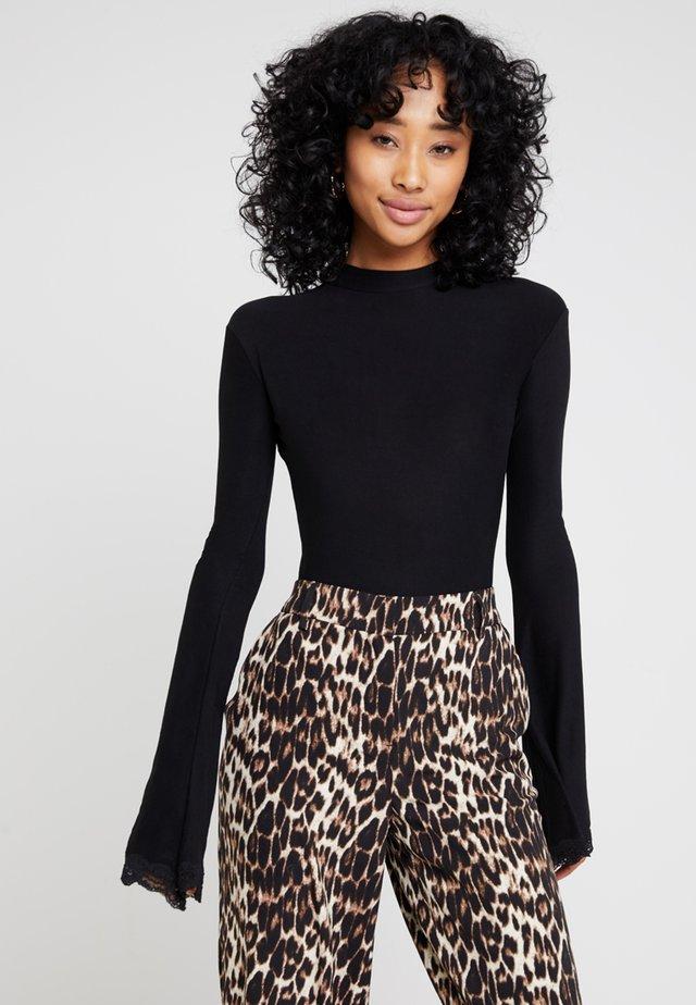 SOUTHERN BELLE BODYSUIT - Long sleeved top - black