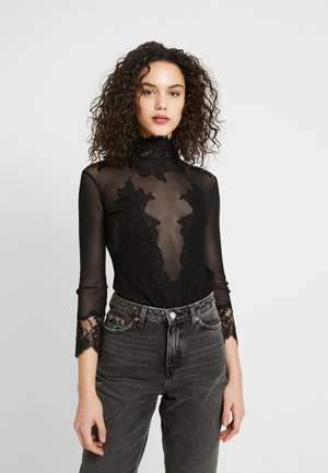 REVERSIBLE TAKE HAH BOW BODYSUIT - Blus - black