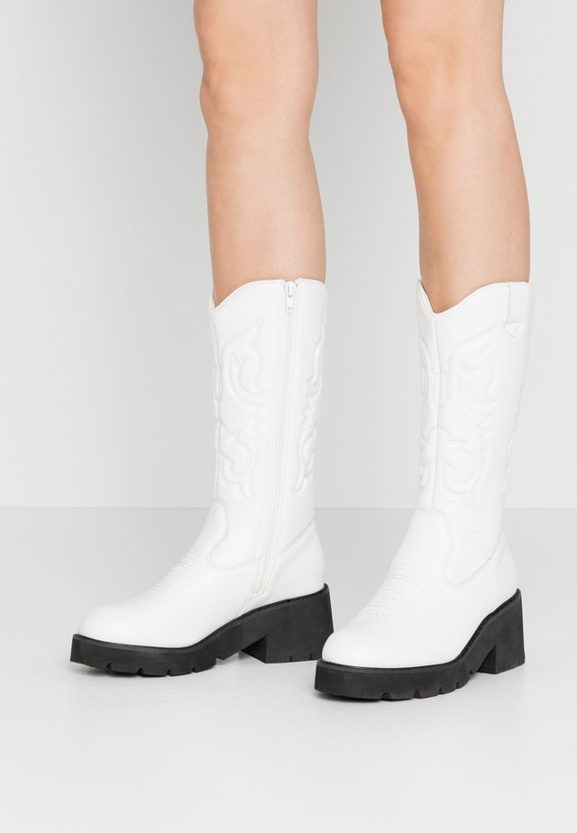 Platform-saappaat - white