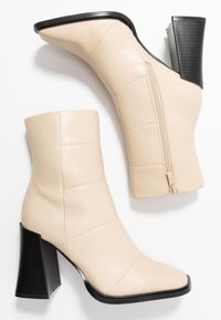Hot Soles - High heeled ankle boots - cream - 3