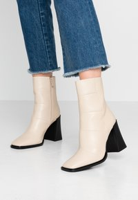 Hot Soles - High heeled ankle boots - cream - 0
