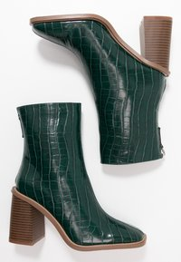 Hot Soles - High heeled ankle boots - dark green - 3