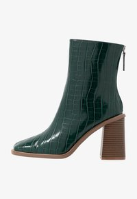 Hot Soles - High heeled ankle boots - dark green - 1