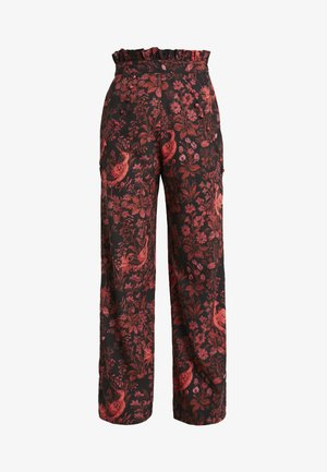 WIDE LEG TROUSER PETITE - Bukse - red floral