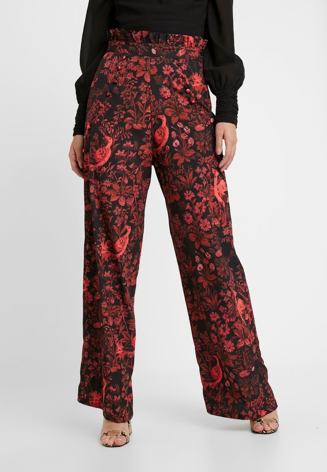 WIDE LEG TROUSER PETITE - Trousers - red floral