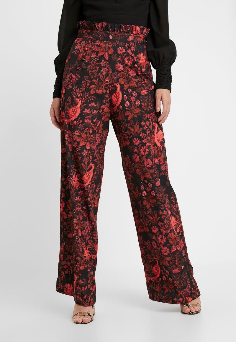 Hope & Ivy Petite - WIDE LEG TROUSER PETITE - Pantaloni - red floral