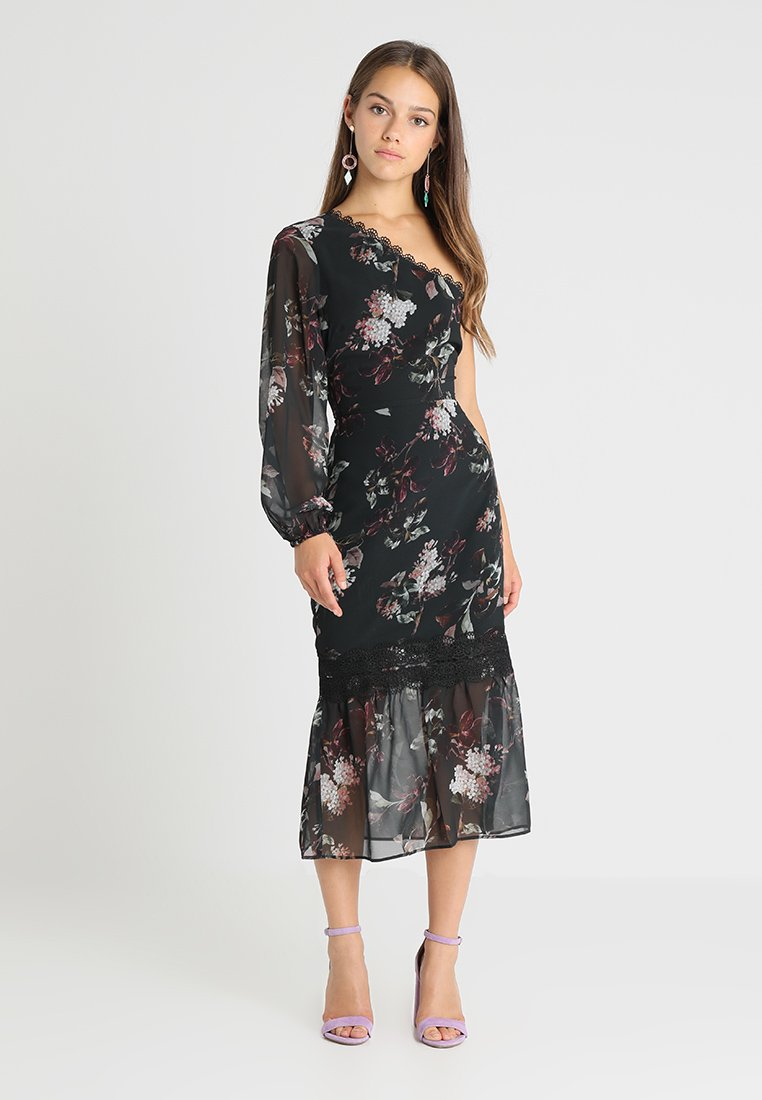 Hope & Ivy Petite - ONE SHOULDER WITH PEPLUM HEM - Robe de soirée - black